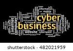 cyber business word cloud on... | Shutterstock .eps vector #482021959