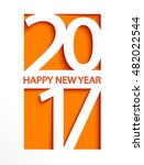 new 2017 year greeting card ... | Shutterstock .eps vector #482022544