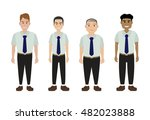 group of young businessman... | Shutterstock .eps vector #482023888