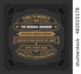 vintage whiskey label | Shutterstock .eps vector #482025178