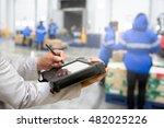 bluetooth barcode scanner... | Shutterstock . vector #482025226