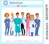 team of doctors  nurses and...   Shutterstock .eps vector #482029879