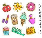 vector collection of cute... | Shutterstock .eps vector #482039860