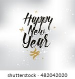 happy new year 2017 text design.... | Shutterstock .eps vector #482042020