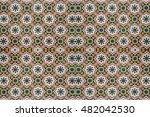 the patterned floor tiles. | Shutterstock . vector #482042530