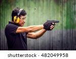 police investigators shooting...   Shutterstock . vector #482049958