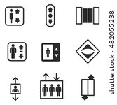 elevator vector icons. simple... | Shutterstock .eps vector #482055238