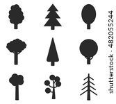 tree vector icons. simple...