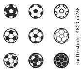 football ball vector icons....