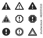 warning sign vector icons....