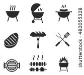 bbq vector icons. simple... | Shutterstock .eps vector #482055328