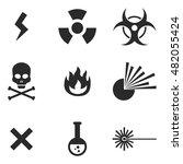 hazard vector icons. simple...