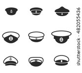 captain hat vector icons....