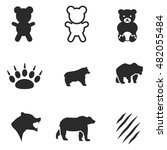 bear vector icons. simple...