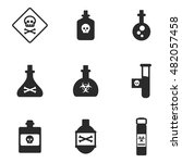 poison vector icons. simple...