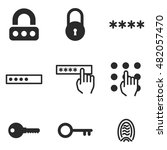 password vector icons. simple...