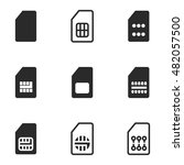 sim vector icons. simple...