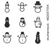 snowman vector icons. simple...