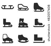 skate vector icons. simple...