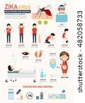 zika virus infographics.vector...   Shutterstock .eps vector #482058733