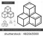 database vector line icon... | Shutterstock .eps vector #482065000