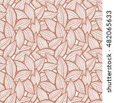 vector pattern with leaves.... | Shutterstock .eps vector #482065633