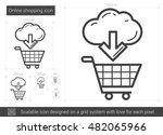 online shopping vector line...   Shutterstock .eps vector #482065966