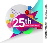 25th anniversary logo  colorful ... | Shutterstock .eps vector #482067886
