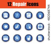 set of repair icons. flat...