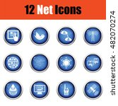 communication icon set.  glossy ...