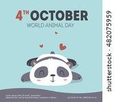 vector world animal day... | Shutterstock .eps vector #482075959