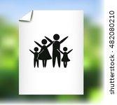 family vector icon | Shutterstock .eps vector #482080210