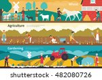 wheat agriculture gardening... | Shutterstock .eps vector #482080726