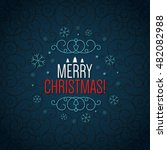 christmas and new year. vector...   Shutterstock .eps vector #482082988