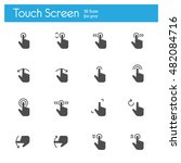 touch gesture  touch screen... | Shutterstock .eps vector #482084716