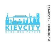 logo city flat design icon... | Shutterstock . vector #482089513
