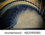 Abstract Old Spiral Staircase...