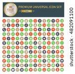 premium universal icon set... | Shutterstock .eps vector #482091100