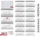 wall quarterly calendar 2017.... | Shutterstock .eps vector #482096146