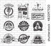 standup comedy show vector... | Shutterstock .eps vector #482097520