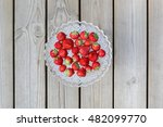 Fresh Strawberries In A Plate