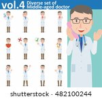 diverse set of middle aged... | Shutterstock .eps vector #482100244