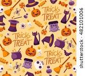 halloween seamless pattern   ... | Shutterstock .eps vector #482101006