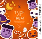 halloween elements   card... | Shutterstock .eps vector #482101048