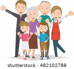 healthy family three... | Shutterstock .eps vector #482102788