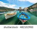 boats in the harbor in mali... | Shutterstock . vector #482102983