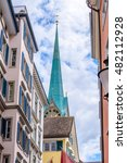 view of historic zurich city... | Shutterstock . vector #482112928