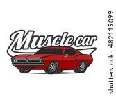 t shirt print muscle car vector ... | Shutterstock .eps vector #482119099
