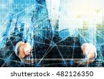 cryptocurrency  blockchain and... | Shutterstock . vector #482126350