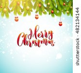 merry christmas greeting card.... | Shutterstock .eps vector #482134144